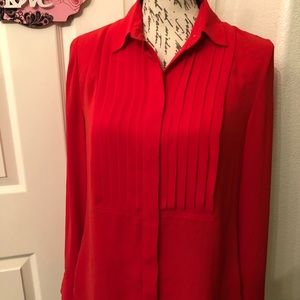 J.CREW LONG SLEEVE POLYESTER BLOUSE SIZE M